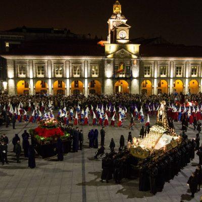 Procesión Semana Santa El Santo Encuentro. Avilés ©Foto Marieta